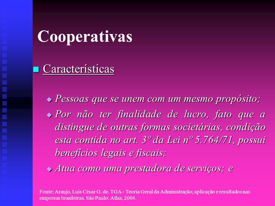 Cooperativas Características