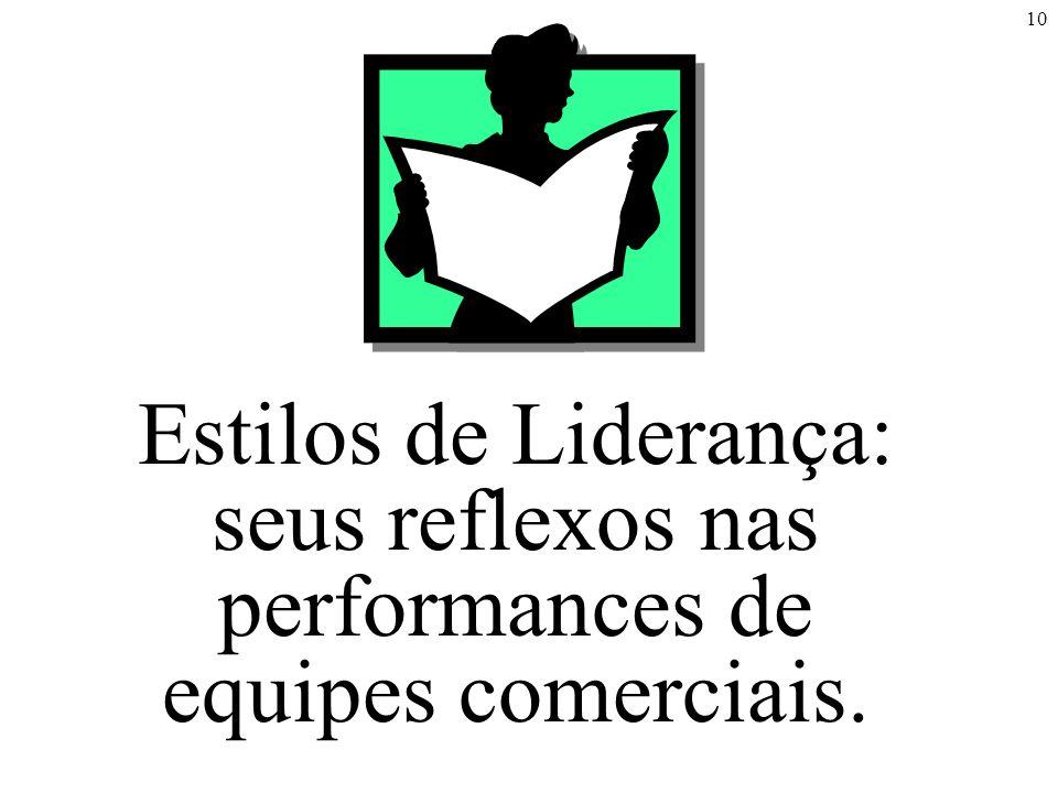 Estilos de Liderança: seus reflexos nas performances de equipes comerciais.