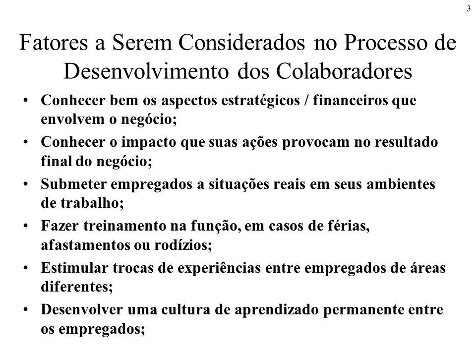 Fatores a Serem Considerados no Processo de Desenvolvimento dos Colaboradores