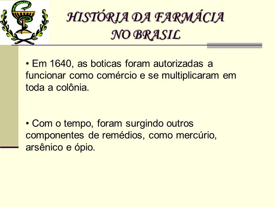 HISTÓRIA DA FARMÁCIA NO BRASIL
