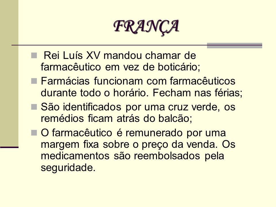 FRANÇA Rei Luís XV mandou chamar de farmacêutico em vez de boticário;