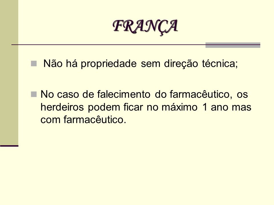 FRANÇA Não há propriedade sem direção técnica;