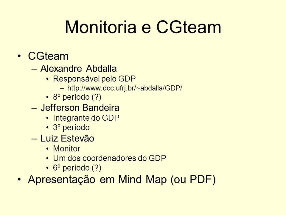 Monitoria e CGteam CGteam Apresentação em Mind Map (ou PDF)