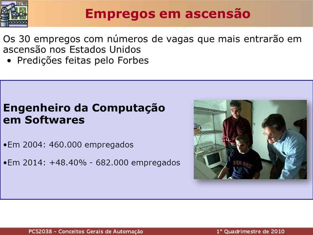 Empregos em ascensão Engenheiro da Computação em Softwares