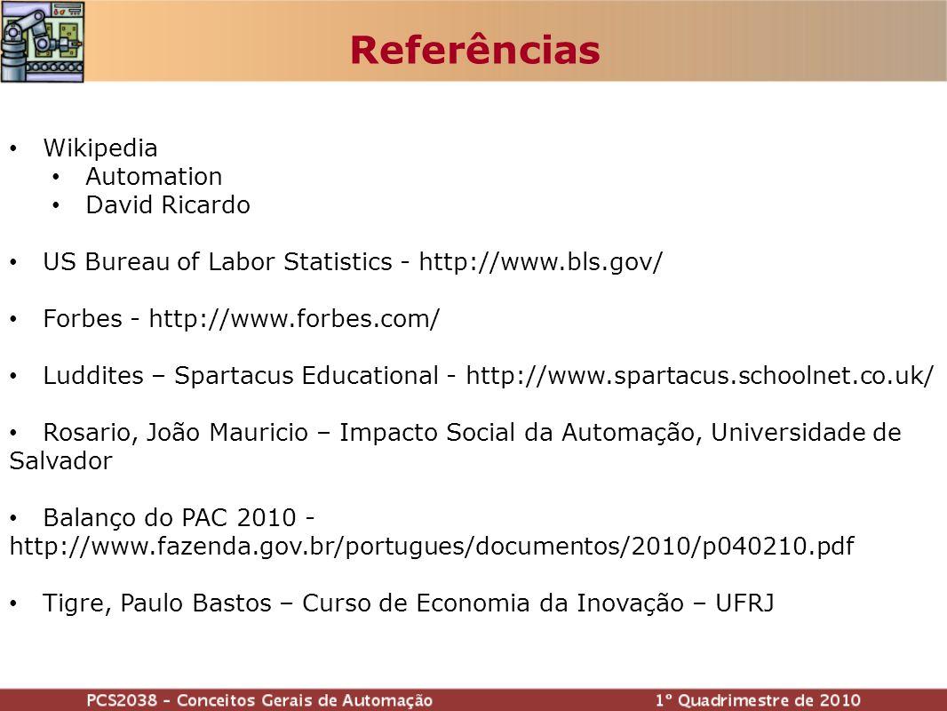 Referências Wikipedia Automation David Ricardo