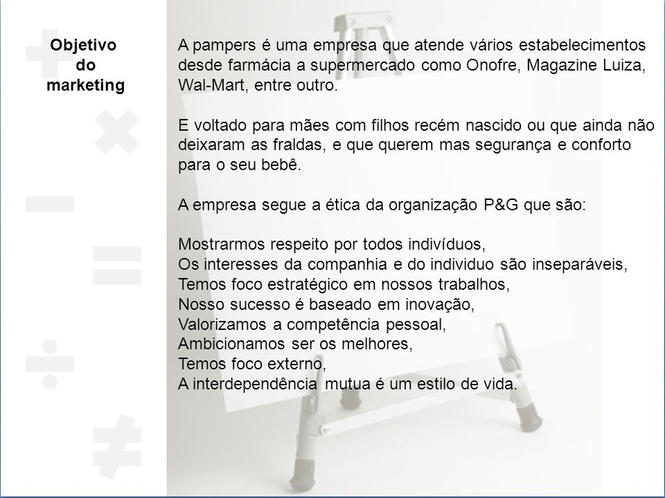 Objetivo do. marketing.
