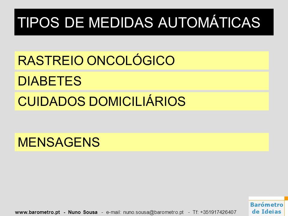 TIPOS DE MEDIDAS AUTOMÁTICAS