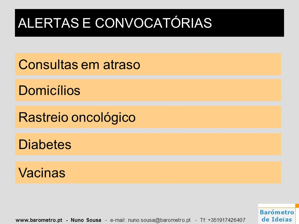 ALERTAS E CONVOCATÓRIAS