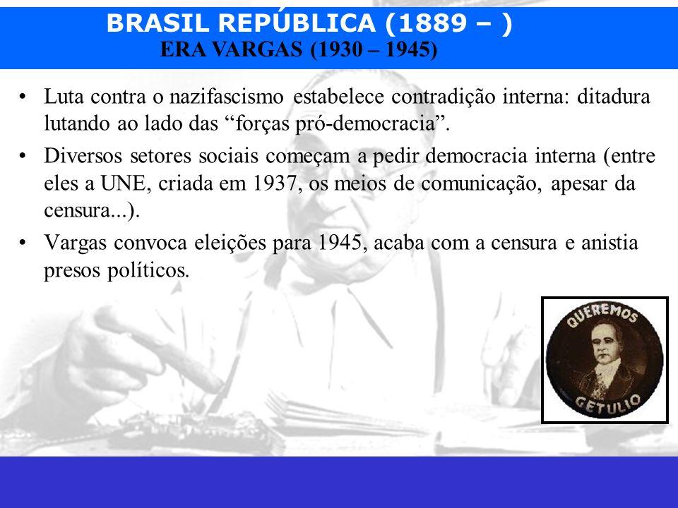 Luta contra o nazifascismo estabelece contradição interna: ditadura lutando ao lado das forças pró-democracia .