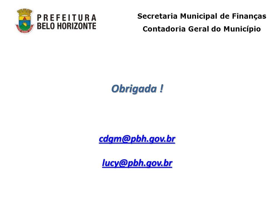 Secretaria Municipal de Finanças Contadoria Geral do Município