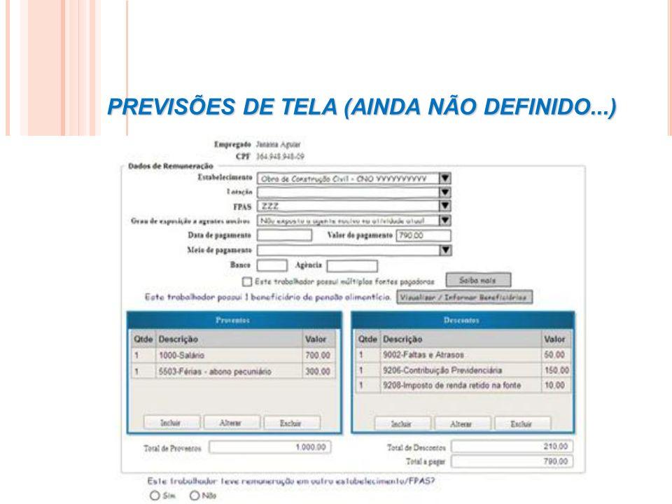 PREVISÕES DE TELA (AINDA NÃO DEFINIDO...)