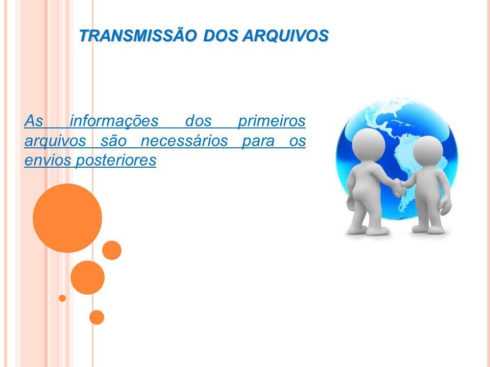 TRANSMISSÃO DOS ARQUIVOS