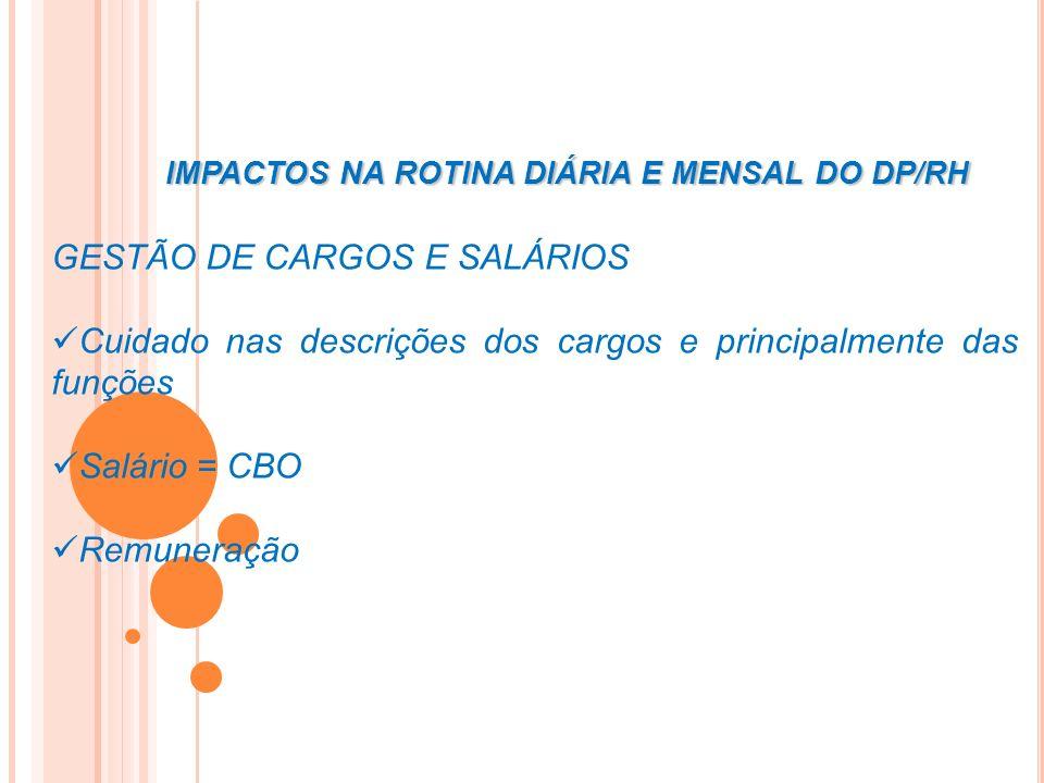 GESTÃO DE CARGOS E SALÁRIOS