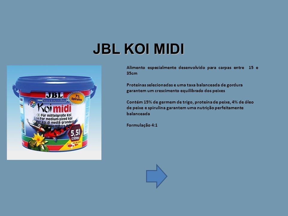 JBL KOI MIDI Alimento especialmente desenvolvido para carpas entre 15 e 35cm.