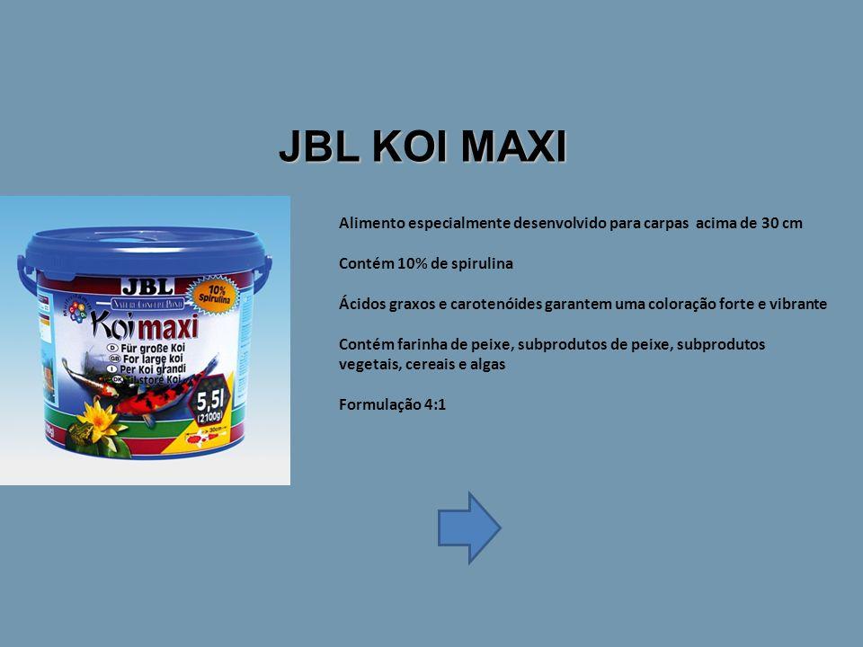 JBL KOI MAXI Alimento especialmente desenvolvido para carpas acima de 30 cm. Contém 10% de spirulina.