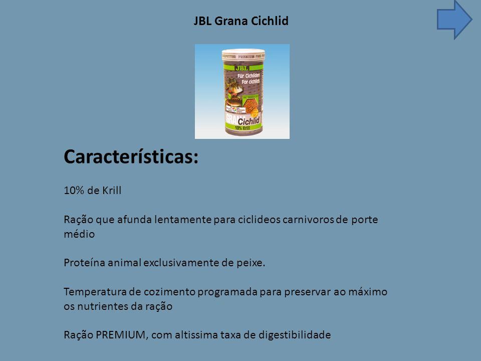 Características: JBL Grana Cichlid 10% de Krill