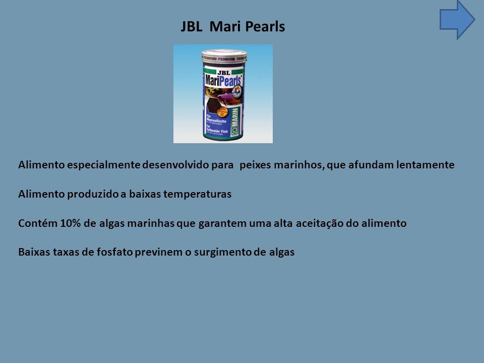 JBL Mari Pearls Alimento especialmente desenvolvido para peixes marinhos, que afundam lentamente.
