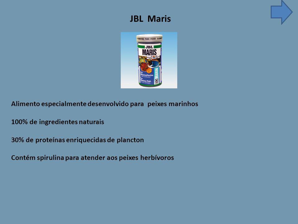 JBL Maris Alimento especialmente desenvolvido para peixes marinhos