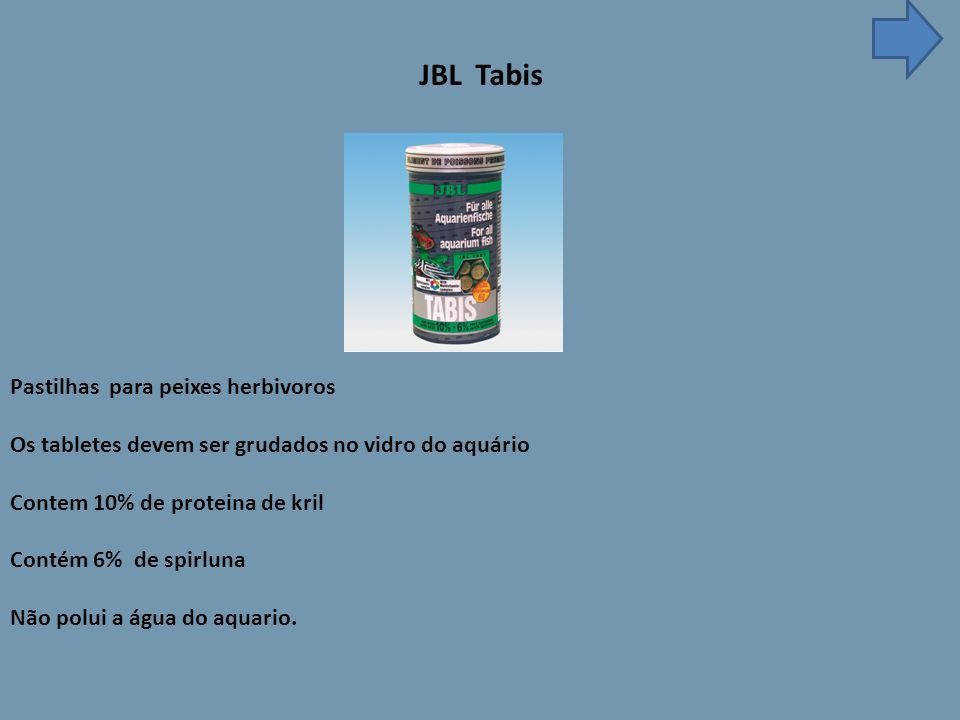 JBL Tabis Pastilhas para peixes herbivoros