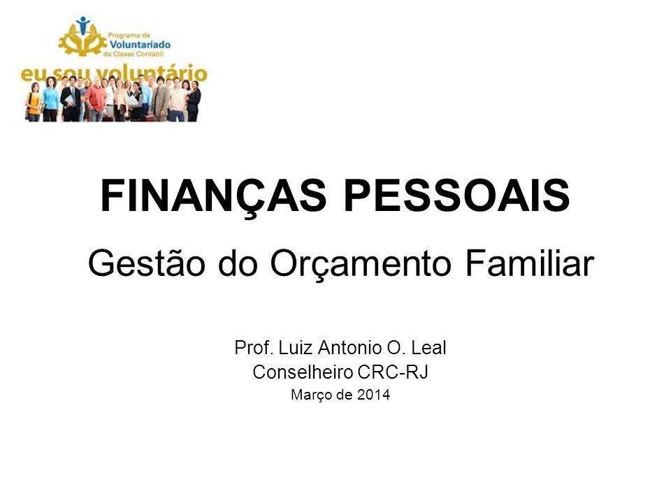 FINANÇAS PESSOAIS Gestão do Orçamento Familiar