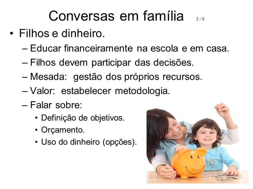 Conversas em família 3 / 8 Filhos e dinheiro.