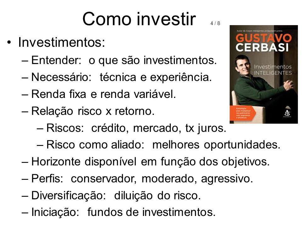 Como investir 4 / 8 Investimentos: Entender: o que são investimentos.