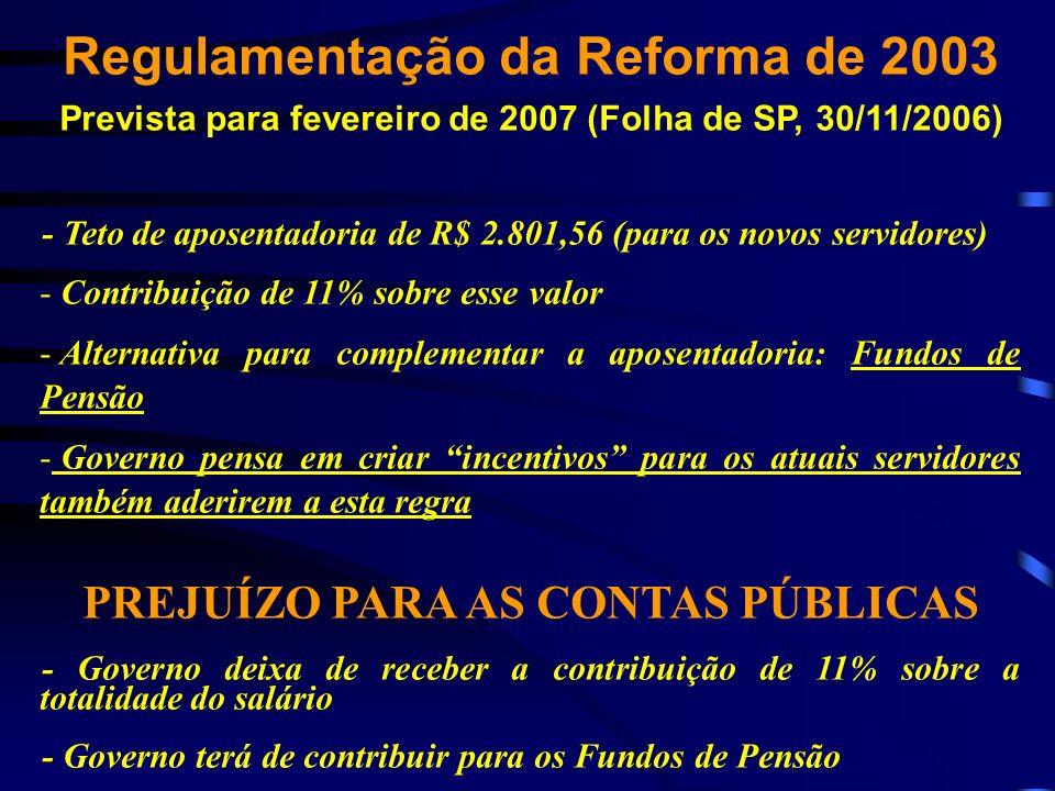 Regulamentação da Reforma de 2003
