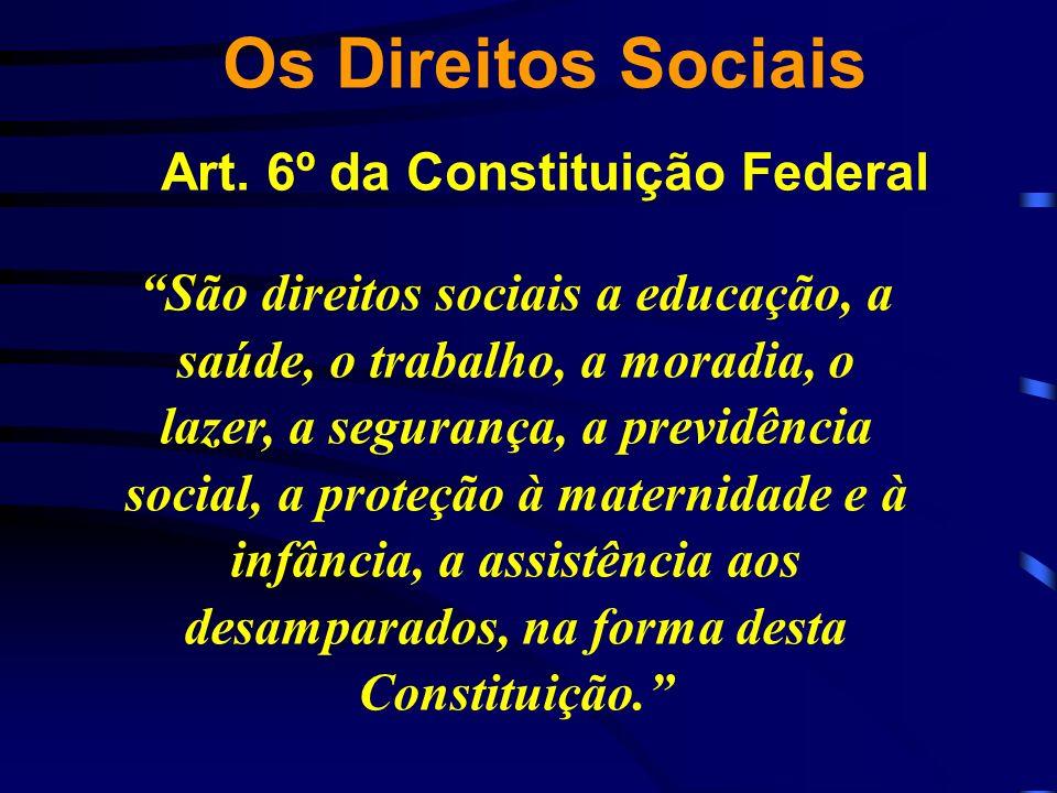 Os Direitos Sociais Art. 6º da Constituição Federal