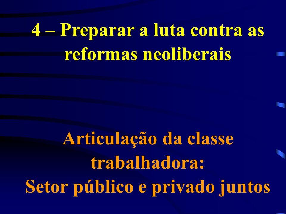 4 – Preparar a luta contra as reformas neoliberais