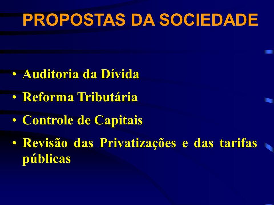 PROPOSTAS DA SOCIEDADE