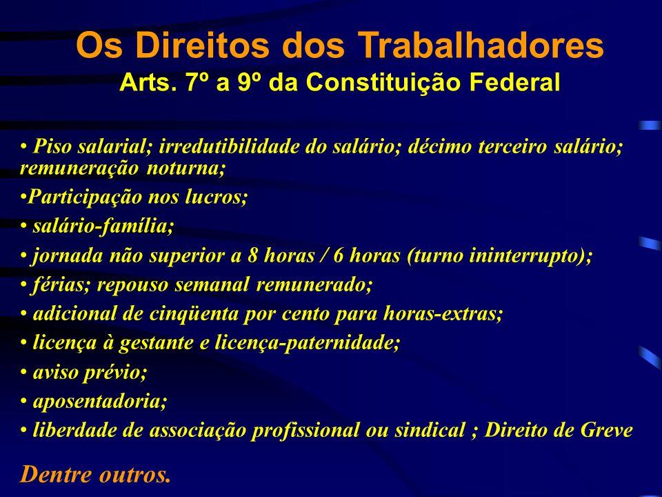 Os Direitos dos Trabalhadores Arts. 7º a 9º da Constituição Federal