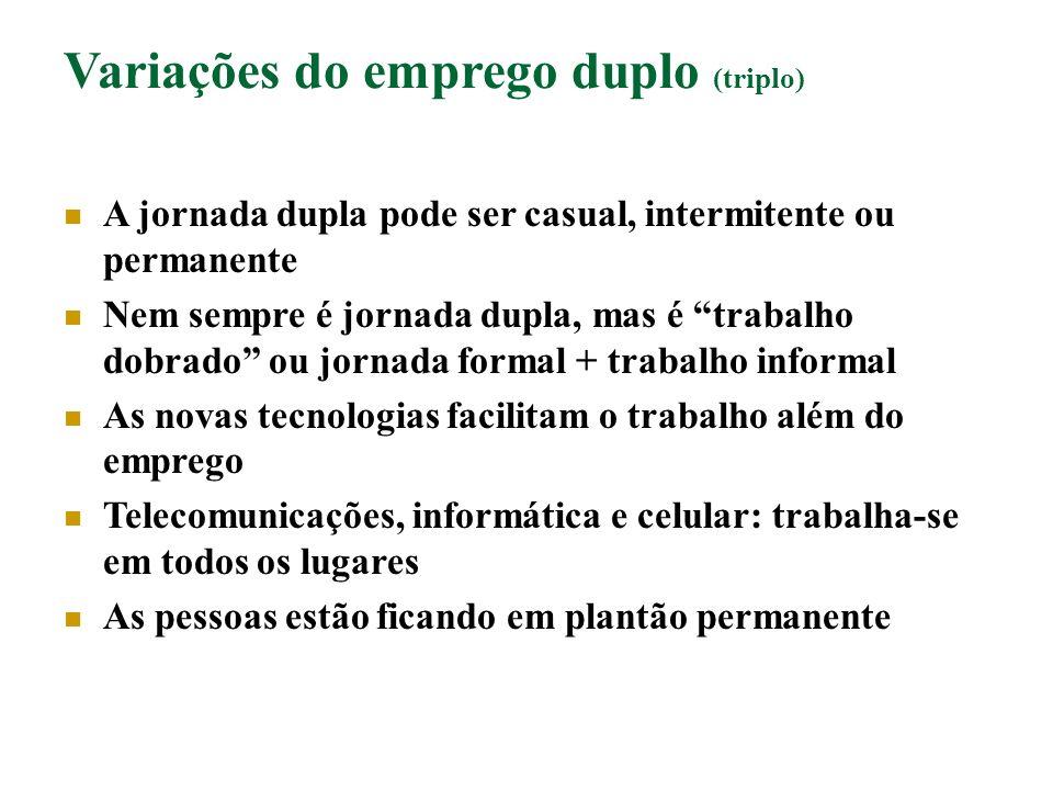 Variações do emprego duplo (triplo)