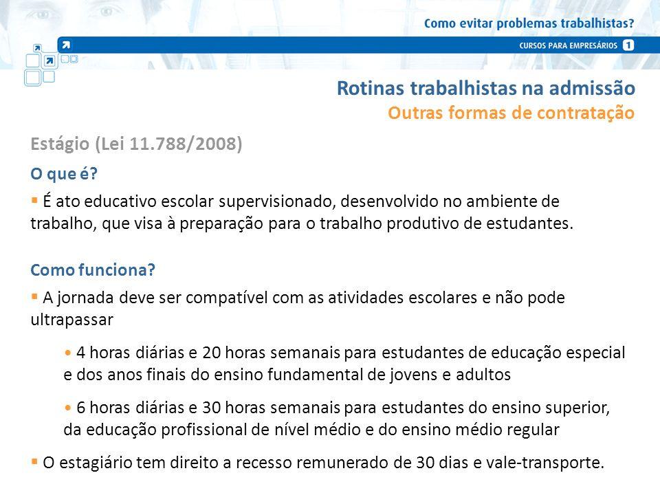 Rotinas trabalhistas na admissão