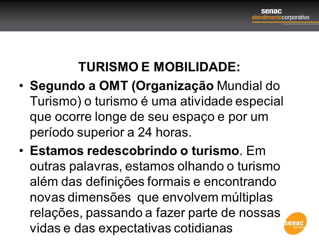 TURISMO E MOBILIDADE: