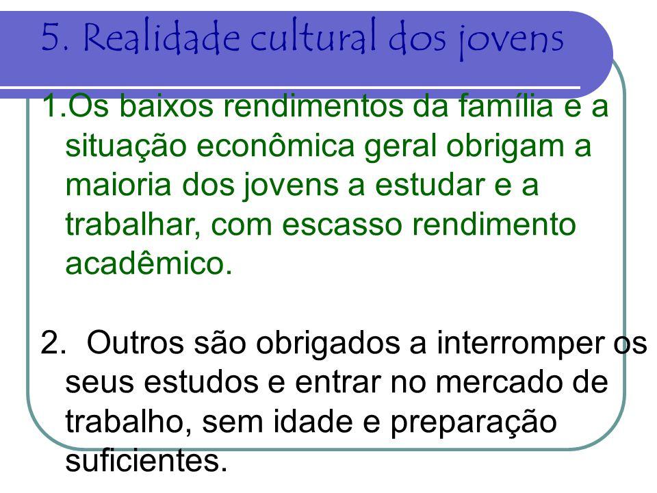 5. Realidade cultural dos jovens