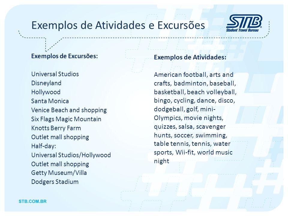 Exemplos de Atividades e Excursões
