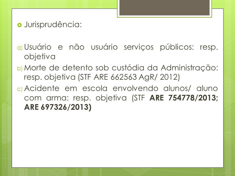 Jurisprudência: Usuário e não usuário serviços públicos: resp. objetiva.