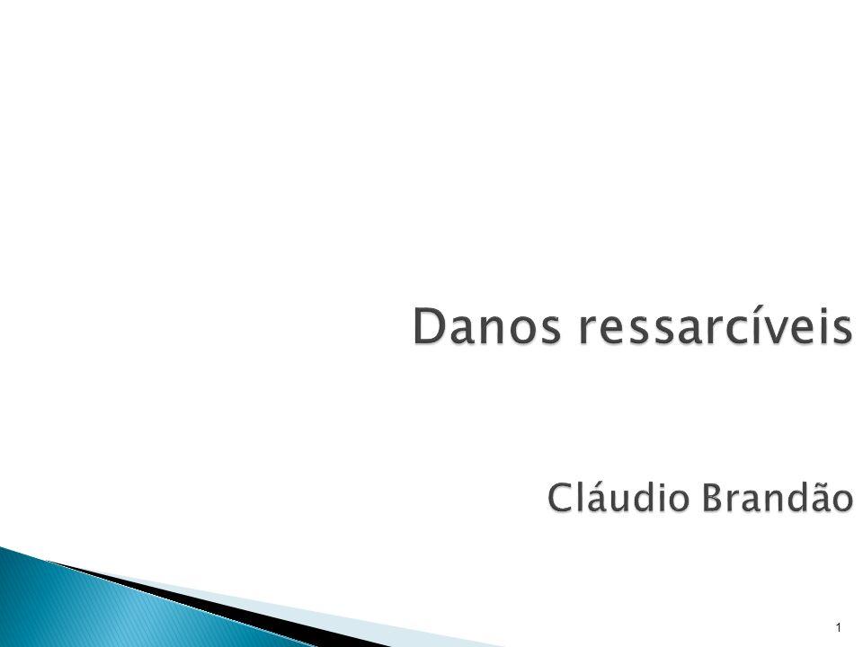 Danos ressarcíveis Cláudio Brandão
