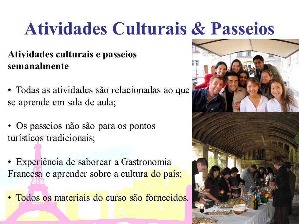 Atividades Culturais & Passeios