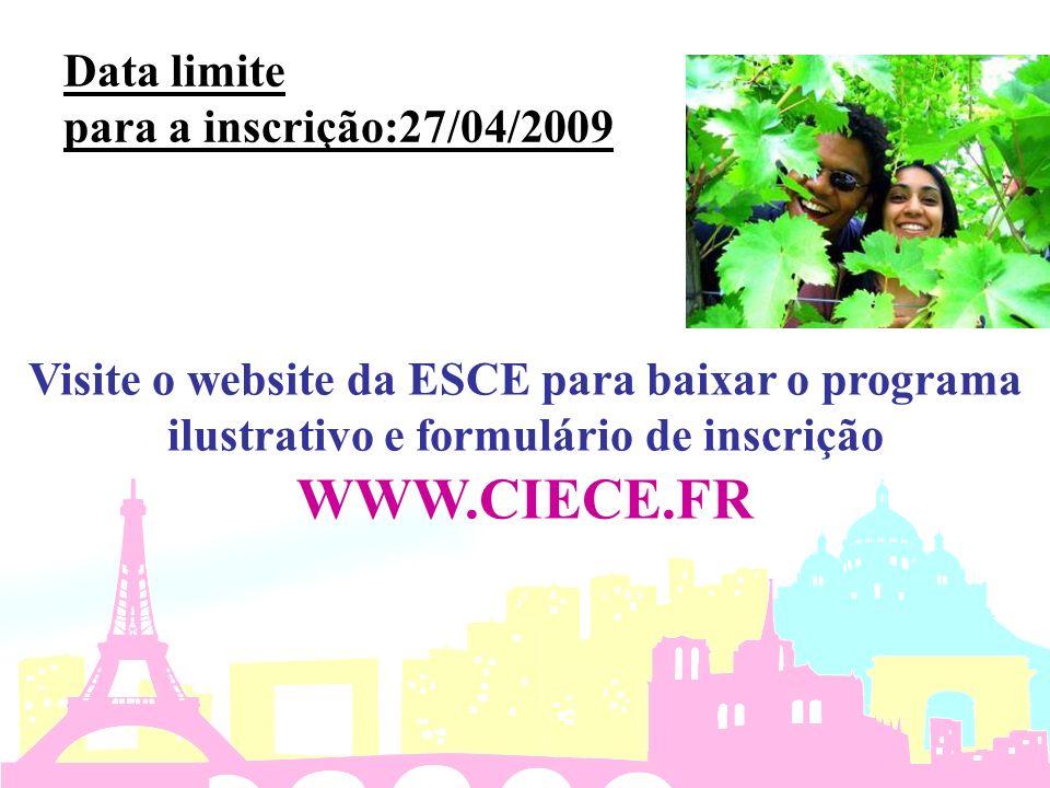 Data limite para a inscrição:27/04/2009