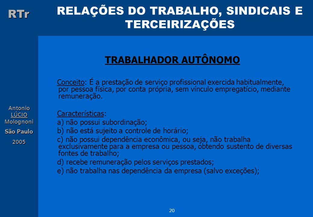 TRABALHADOR AUTÔNOMO