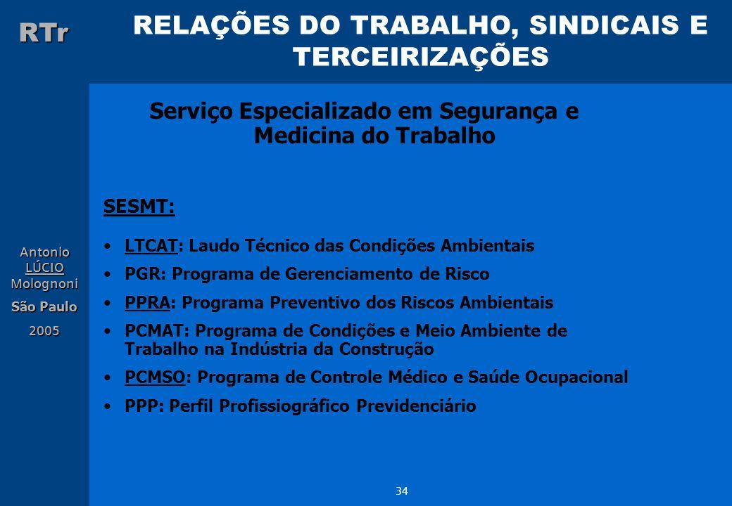 Serviço Especializado em Segurança e Medicina do Trabalho