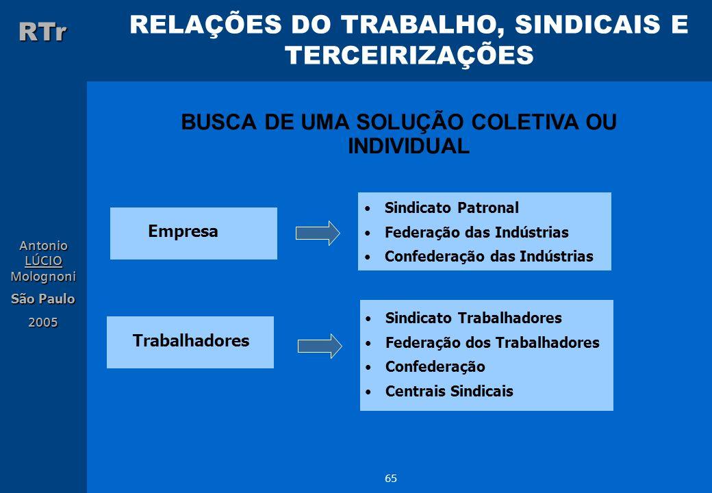 BUSCA DE UMA SOLUÇÃO COLETIVA OU INDIVIDUAL