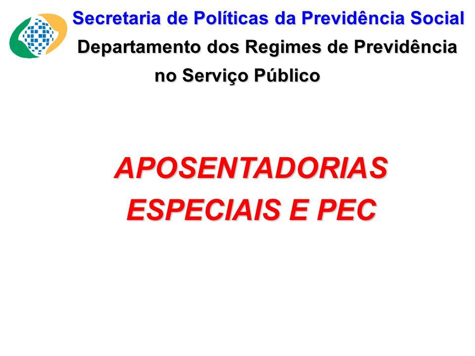 APOSENTADORIAS ESPECIAIS E PEC
