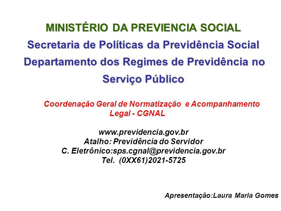 MINISTÉRIO DA PREVIENCIA SOCIAL
