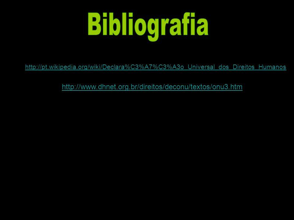 Bibliografia http://www.dhnet.org.br/direitos/deconu/textos/onu3.htm