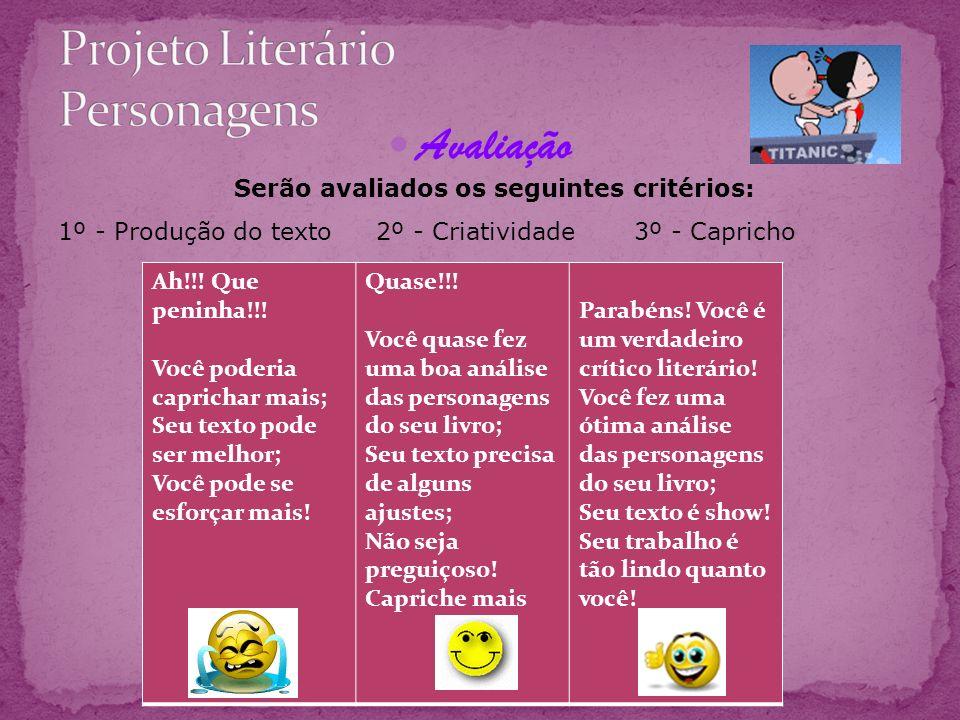 Projeto Literário Personagens