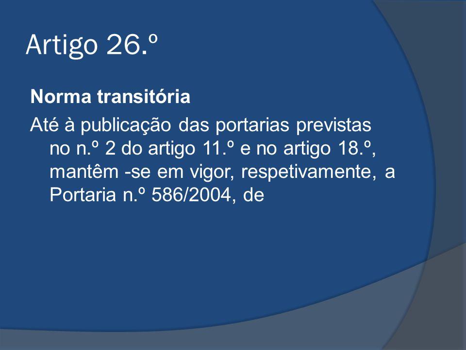 Artigo 26.º