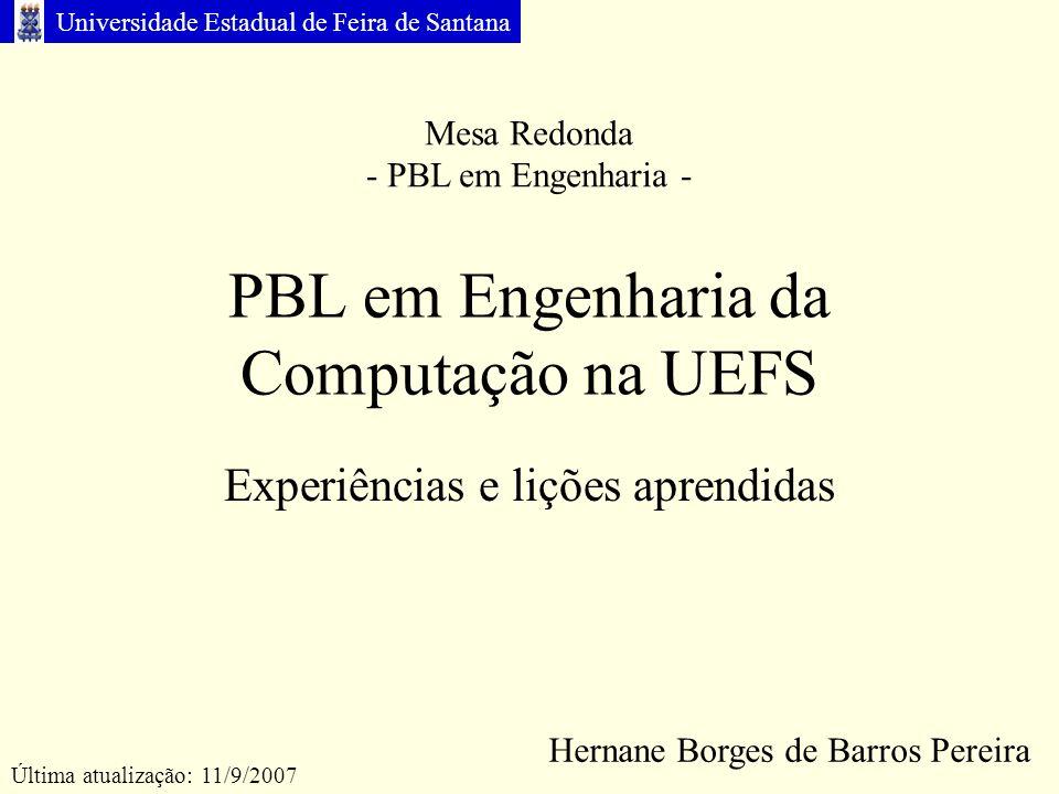 PBL em Engenharia da Computação na UEFS