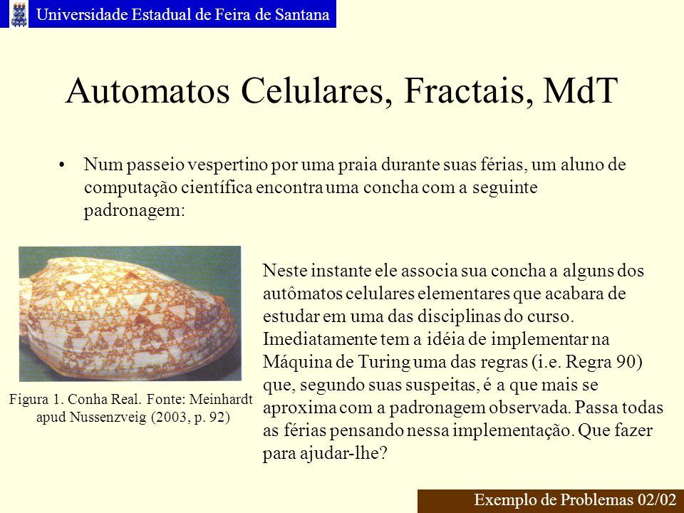 Automatos Celulares, Fractais, MdT